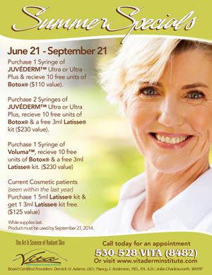 Summer Dermatology Specials